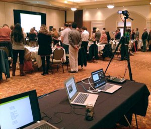StreamSpot's live streaming technology in use at an evangelization workshop series for the Archdiocese of Cincinnati at the Savannah Center in West Chester, Ohio