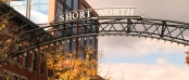 The Short North is a neighborhood in Columbus populated with art galleries, specialty shops, restaurants, bars and coffee houses.