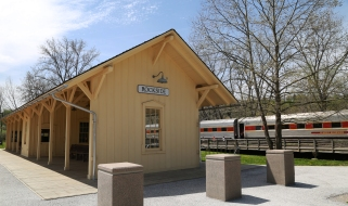 Hop on the train along the Cuyahoga Valley Scenic Railroad for beautiful views of CVNP.