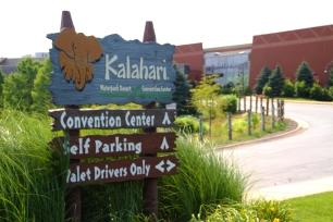 Kalahari Resort in Sandusky, Ohio features indoor and outdoor water parks.