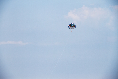 Summer is the perfect time to go parasailing over Lake Erie.