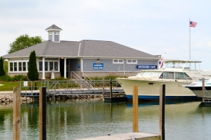 Dockside Cafe offers visitors the perfect view of Sandusky Bay.