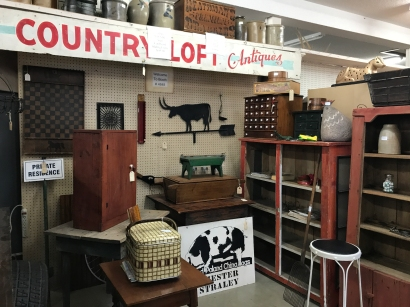 Visit a local antique shop at Hocking Hills for vintage finds.