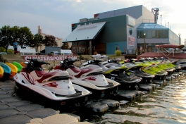 Instead of walking on the boardwalk, you can explore the Flats on a jet ski, kayak or paddle board.