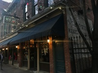 Great Lakes Brewing Company has an inviting exterior that stretches almost an entire block with outdoor seating.