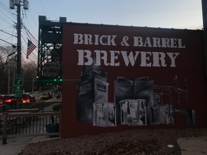 Surrounded by the Cuyahoga River, Brick & Barrel Brewery is neighbors with many factories that suits their gritty, hard-working, Cleveland-esque atmosphere.