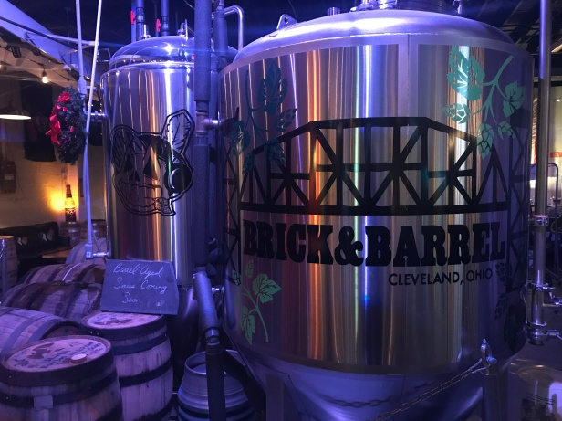 You'll get really up close and personal with the brewing systems at Brick & Barrel, which represents the working-man spirit of the brewery.