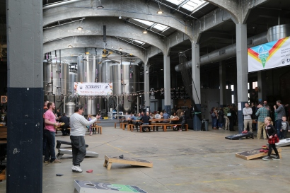 Arguably the most famous brewery in Cincinnati, Rhinegeist Brewery has an environment for all ages. Seriously. Bring your kids to play cornhole, and your father for some bonding time.