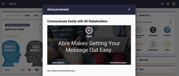 Abre.io, an education management platform